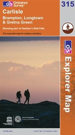 OS Explorer Map 315 Carlisle