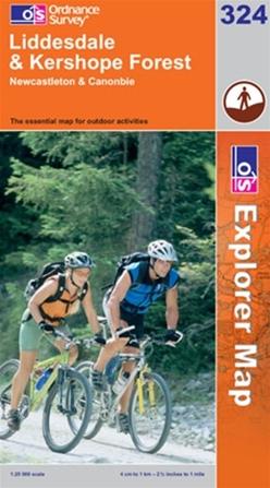OS Explorer Map 324 Liddesdale & Kershope Forest