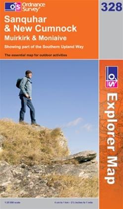 OS Explorer Map 328 Sanquhar & New Cumnock