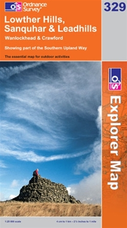 OS Explorer Map 329 Lowther Hills, Sanquhar & Leadhills
