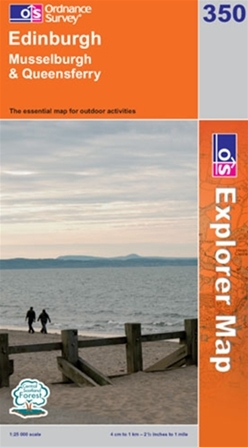 OS Explorer Map 350 Edinburgh