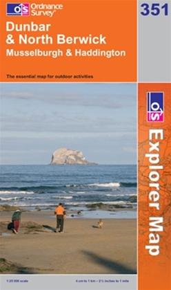 OS Explorer Map 351 Dunbar & North Berwick
