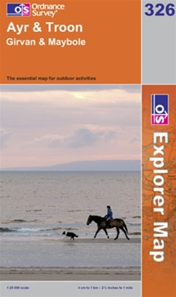 OS Explorer Map 326 Ayr & Troon
