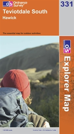 OS Explorer Map 331 Teviotdale South