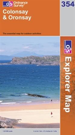 OS Explorer Map 354 Colonsay & Oronsay