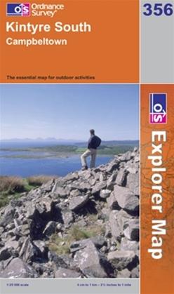 OS Explorer Map 356 Kintyre South