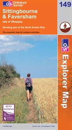 OS Explorer Map 149 Sittingbourne & Faversham