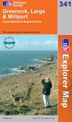 OS Explorer Map 341 Greenock, Largs & Millport
