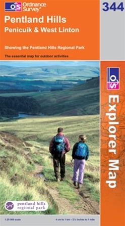OS Explorer Map 344 Pentland Hills
