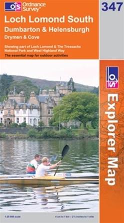 OS Explorer Map 347 Loch Lomond South