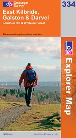 OS Explorer Map 334 East Kilbride, Galston & Darvel