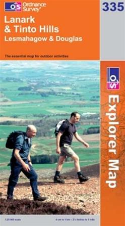 OS Explorer Map 335 Lanark & Tinto Hills