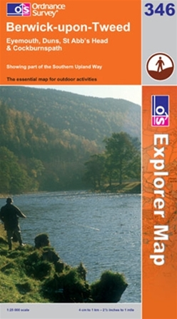 OS Explorer Map 346 Berwick-upon-Tweed
