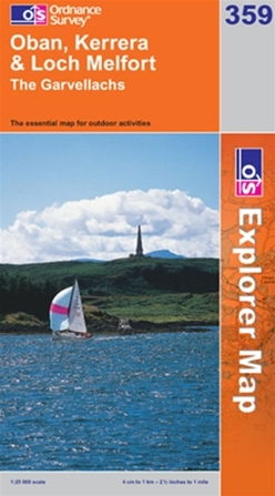 OS Explorer Map 359 Oban, Kerrera & Loch Melfort