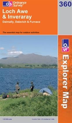 OS Explorer Map 360 Loch Awe & Inveraray