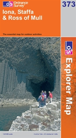 OS Explorer Map 373 Iona, Staffa & Ross of Mull
