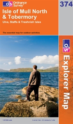OS Explorer Map 374 Isle of Mull North & Tobermory
