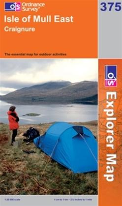 OS Explorer Map 375 Isle of Mull East