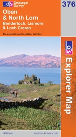 OS Explorer Map 376 Oban & North Lorn