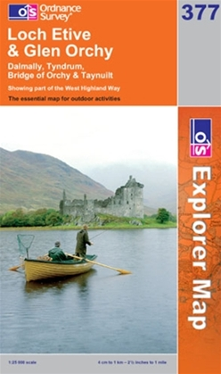 OS Explorer Map 377 Loch Etive & Glen Orchy