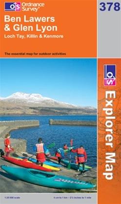 OS Explorer Map 378 Ben Lawers & Glen Lyon