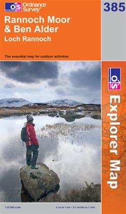 OS Explorer Map 385 Rannoch Moor & Ben Alder