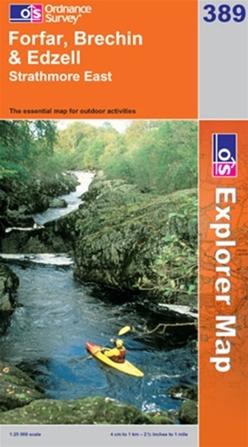 OS Explorer Map 389 Forfar, Brechin & Edzell