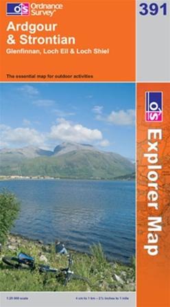 OS Explorer Map 391 Ardgour & Strontian