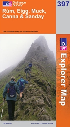 OS Explorer Map 397 Rùm, Eigg, Muck, Canna & Sanday