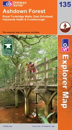 OS Explorer Map 135 Ashdown Forest