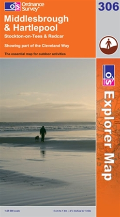 OS Explorer Map 306 Middlesbrough & Hartlepool