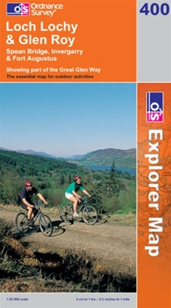OS Explorer Map 400 Loch Lochy & Glen Roy