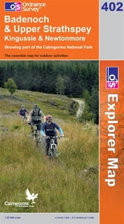 OS Explorer Map 402 Badenoch & Upper Strathspey