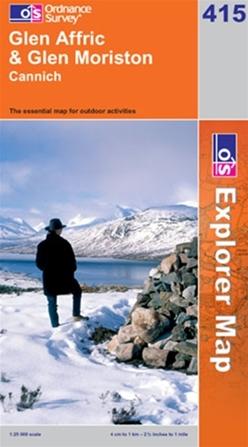 OS Explorer Map 415 Glen Affric & Glen Moriston
