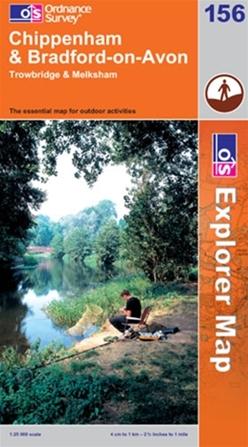 OS Explorer Map 156 Chippenham & Bradford-on-Avon