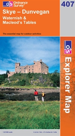 OS Explorer Map 407 Skye - Dunvegan