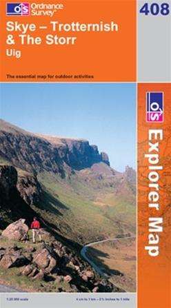 OS Explorer Map 408 Skye - Trotternish & The Storr