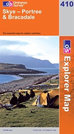 OS Explorer Map 410 Skye - Portree & Bracadale