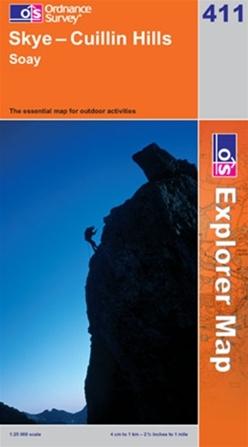 OS Explorer Map 411 Skye - Cuillin Hills