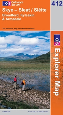 OS Explorer Map 412 Skye - Sleat