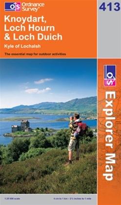 OS Explorer Map 413 Knoydart, Loch Hourn & Loch Duich