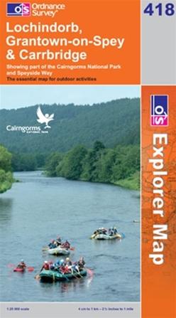 OS Explorer Map 418 Lochindorb, Grantown-on-Spey & Carrbridge