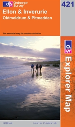 OS Explorer Map 421 Ellon & Inverurie