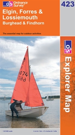 OS Explorer Map 423 Elgin, Forres & Lossiemouth