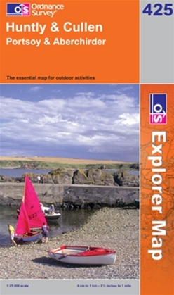 OS Explorer Map 425 Huntly & Cullen