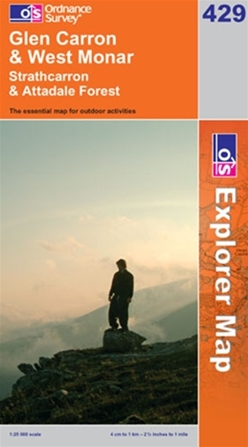 OS Explorer Map 429 Glen Carron & West Monar