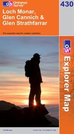 OS Explorer Map 430 Loch Monar, Glen Cannich & Glen Strathfarrar