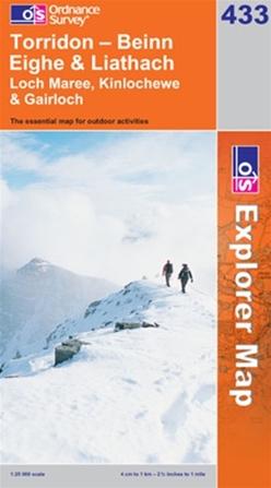 OS Explorer Map 433 Torridon - Beinn Eighe & Liathach