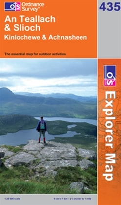 OS Explorer Map 435 An Teallach & Slioch
