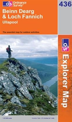 OS Explorer Map 436 Beinn Dearg & Loch Fannich